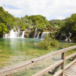 Waterfall KRKA in Croatia - Stock Photo