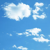 Blue sky with clouds — Foto de Stock