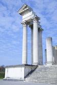 Parte del templo romano harbor en xanten — Foto de Stock