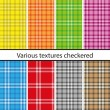 Stock Vector: Plaid pattern set
