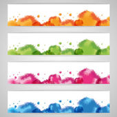 Colorful watercolors set — Stock Vector