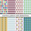 Set seamless pattern with dotted lines — Stock Vector