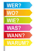 The Colorful Question Sign — Wektor stockowy