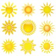 Stock Vector: Collection of suns