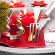 Table setting for christmas — Stockfoto