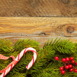 Stock Photo: Christmas fir tree with decoration