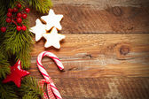 Cristmas fir tree with decoration — Stock Photo