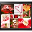 Tablet pc with christamas pictures — Stock Photo