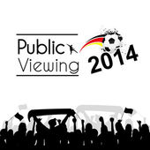 Public viewing Germany — Stock Vector