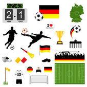 Soccer set Germany — Stock Vector