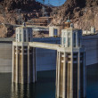 Stock Photo: Hoover Dam Intake Towers