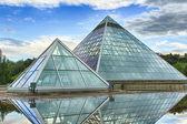 Glass Pyramids — Stock Photo