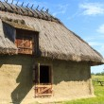 Ukrainian rural barn — Stock Photo