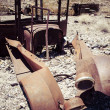 Rusty Car in the Desert — Stock Photo