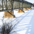Train Bridge in Winter — Stock Photo