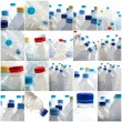 Set Of Different Bottles - Stock Photo