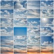 Stock Photo: Set Of Blue Sky