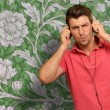 Excited Man Listening Music — Stock Photo #12665096