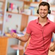 Excited Man Listening Music — Stock Photo #12665099