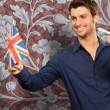 Man Holding A Miniature Airplane And British Flag — ストック写真 #12665138