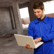 Engineer Using Laptop — Stock Photo