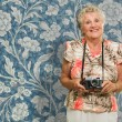 Woman With Camera — Stock Photo #12666873