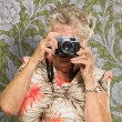 Senior Woman Photographing — Stock Photo #12666878