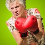 pugile senior di rabbia — Foto Stock #12666907