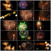 Set Of Fireworks — Stock Photo