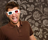 Portrait Of A Young Man Wearing A Retro Glasses — Stock Photo