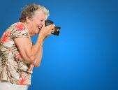 Senior Woman Photographing — Stock Photo