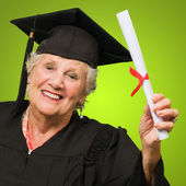 Woman Holding Graduation Degree — Stock Photo