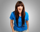Young woman screaming — Stockfoto