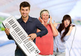 Family Musical Band — Stock Photo