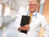 Portrait Of A Senior Doctor — Stock Photo