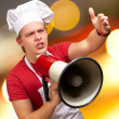 Royalty-Free Stock Photo: Portrait Of A Young Man With Megaphone