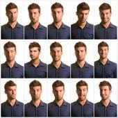 Porträt des mannes ausdruck — Stockfoto