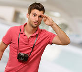 Portrait of a man looking for something — Stock Photo