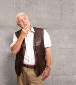 Portrait Of Sad Old Man — Stock Photo