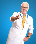 Happy Male Doctor With Thumbs Up — Stock Photo