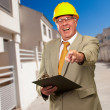 Portrait Of A Senior Architect - Stock Photo
