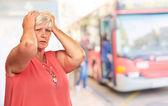 Portrait Of A Depressed Senior Woman — Stock Photo