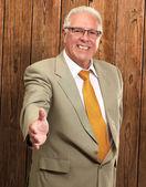 Senior Business Man Offering Handshake — Stock Photo