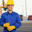 Engineer Holding Plier - Stock Photo