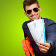 Stock Photo: MShowing Boarding Passes