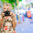 Senior Woman Photographing — Foto Stock