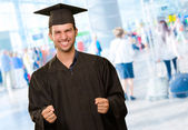 Young Man In Graduation Gown — Stock Photo