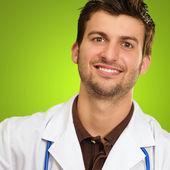 Portrét šťastný lékař — Stock fotografie