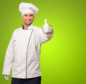 Portrait Of Chef Showing Thumb Up Sign — Stock Photo
