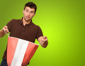 Portrait Of A Young Man Holding Shopping Bag — Stock Photo
